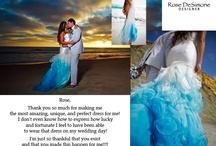 Custom Wedding Dresses / Rose DeSimone Bridal Some cool photos of some of our more recent work.
