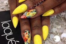 Yellow Nails Inspirations/ Yellow Nail Polish/ Mustard Nail Art/ Żółte paznokcie hybrydowe 2018