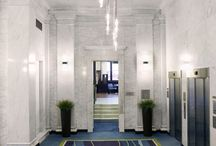 Courtyard by Marriot   Seattle Downtown/Pioneer Square / With bold, contemporary interior elements that stand free never connecting with century old framework, the Courtyard by Marriot Seattle Downtown/Pioneer Square Hotel is the perfect blend of old meets new