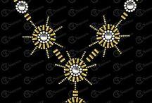 neckline designs bead works
