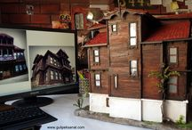 DİORAMA Miniature mansion / Armutçular Mansion, which was built in 1860 in Baroque style wooden mansion httpa//www.gulipeksanat.com/mudurnu-armutcular-
