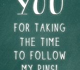 Thank you for Following My Pins / Thank you for following on Pinterest. Amazing followers