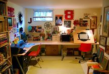 Studio Inspiration / Cool looking studio spaces and things I'd like to have in my personal studio