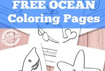 Sea-sational Learning Activities / Ocean related educational materials.
