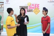 SAFETY CARNIVAL AT DLF PROMENADE / THINK SAFE. BE SAFE!!  An initiative taken by DLF Malls.  Educative and interactive way of making children more aware about the most important safety measures