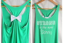 Motivational gear / Workout clothes / by KirkandKaren Reynolds