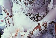 Lace, taffeta, silk, gowns / I'm blessed to have been around so many different forms of beauty through my life.