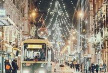 Eclairage Noel urbain