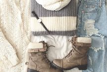 Wintery outfits