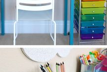 kids art play corner