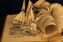 Book Art / Art made from books, art made involving books, and anything in between... (Website links are not endorsements unless otherwise stated)