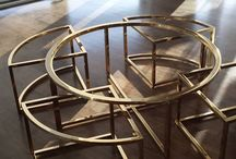 Tables / Custom designed tables crafted with metal fabrication.