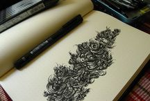 Ink artworks