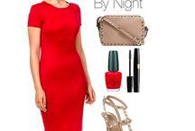 Pencil Dress Coco red / Deze vuurrode jurk is een subliem voorbeeld van een klassieker met pit! De elegante uitstraling en rits aan de achterkant maken deze jurk onweerstaanbaar. Alleen tijdens valentijn special voor  een prijsje om verliefd op te worden.