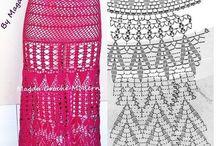faldas ha crochet