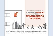 Exercícios de Simulação / Nos edifícios e estabelecimentos, para os quais é exigido um plano de emergência interno, devem ser realizados periodicamente exercícios.