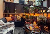 Winter terrace design