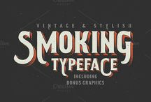 Vintage, Retro and Rustic Style Fonts / A growing list of vintage, retro and rustic style fonts perfect for any type of graphic design project including stationary, wedding invites, postcards, business cards, website design and more.