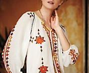 Inspired by the Traditional Blouse / Many artists and designers have been drawing their inspiration from traditional items in creating folk or boho clothing.