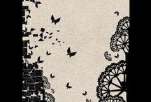 Print #1 / Tangram butterflies by MAGELLANIC©