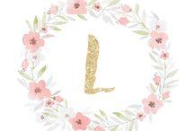 アルファベット花