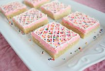 Pink party food