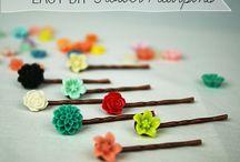 diy flower hairpins