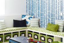 Toddler bedroom / Toddler bedroom and playroom inspirations.