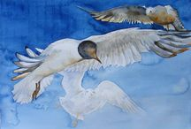 Watercolor:  Animals 15 / Animals in watercolor / by Junell Toney