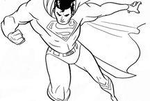 Superman: Disegni da Colorare