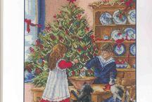 Рождество, Новый год,.Вышивка крестом.