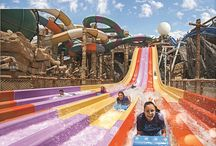 Yas Waterworld / Yas Water World is the newest entertainment destination on the leisure and lifestyle in the UAE. Visitors will be able to enjoy 43 total rides, slides and attractions, 24 rides that incorporate 32 individual slides, Four one-of-a-kind rides