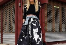 Crop Top + Full Skirt = Love / The classiest trend lately.