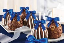Hanukkah Gifts / Celebrate the Festival of Lights with handcrafted Gourmet Caramel Apples from Mrs Prindables. Repin to your own inspiration board.