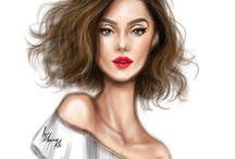 Çizim Saç Modelleri