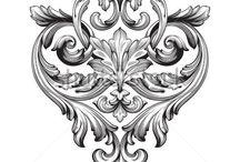 Орнамент барокко, рококо