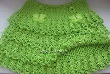 falda tejida en crochet