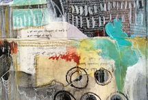 Background inspiration / Mixed media, art, inspiration, craft, backgrounds, art journal, drawing, getting started, beginners, craft, textiles,