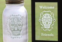 Sugar Skulls Etchspiration / Etched calavera (sugar skulls) for Dia de los Muertos, the Day of the Dead!
