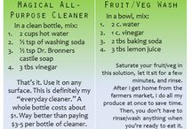 Cleaning stuff / DIY homemade cleaning recipes / by Jamie Lockard