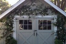 porte, portail, jardin