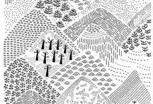 paysages illustration