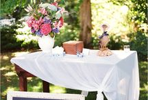 Wedding welcome table/sign