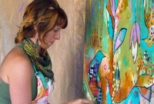 Painting creative Flora Bowley