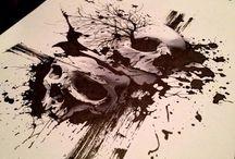 Skull tattoo/art