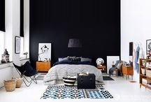 black wall / inspiration and moods for black and dark walls