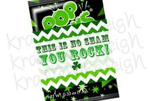 St. Patrick's Day Favor Printables / St. Patrick's Day favors are a perfect way to show someone you love that you are thinking about them on St. Patrick's Day!