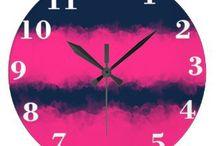 watercolor clocks