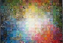 Colourwash landscape quilts