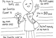 Family& mom's & dad's / Worksheets & activities